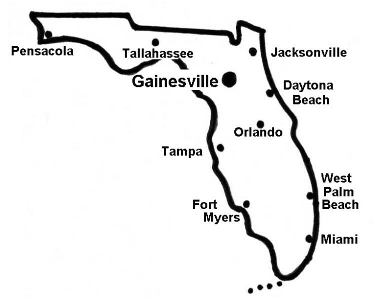 Gainesville Map Of Florida.Gainesville Fl Wildlife Removal Anytime Wildlife Removal